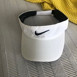 White/ black Nike Visor